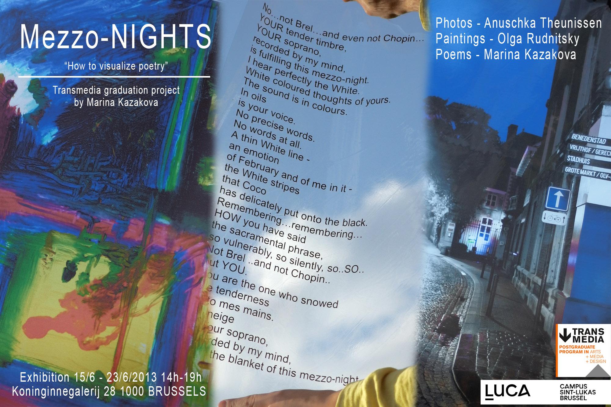 "Mixed-media poetry exhibition ""Mezzo-Nights"", Brussels, Belgium"