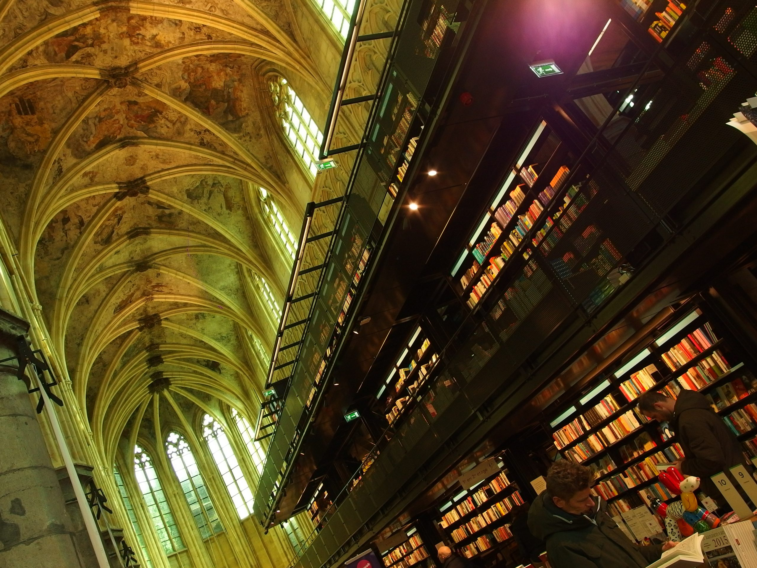 A Gargantuan Bookshop in the 13th Century Church: Gertrude Stein Would Applaud