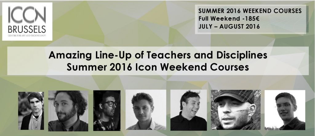 ICON Brussels Summer Weekend Course Teachers