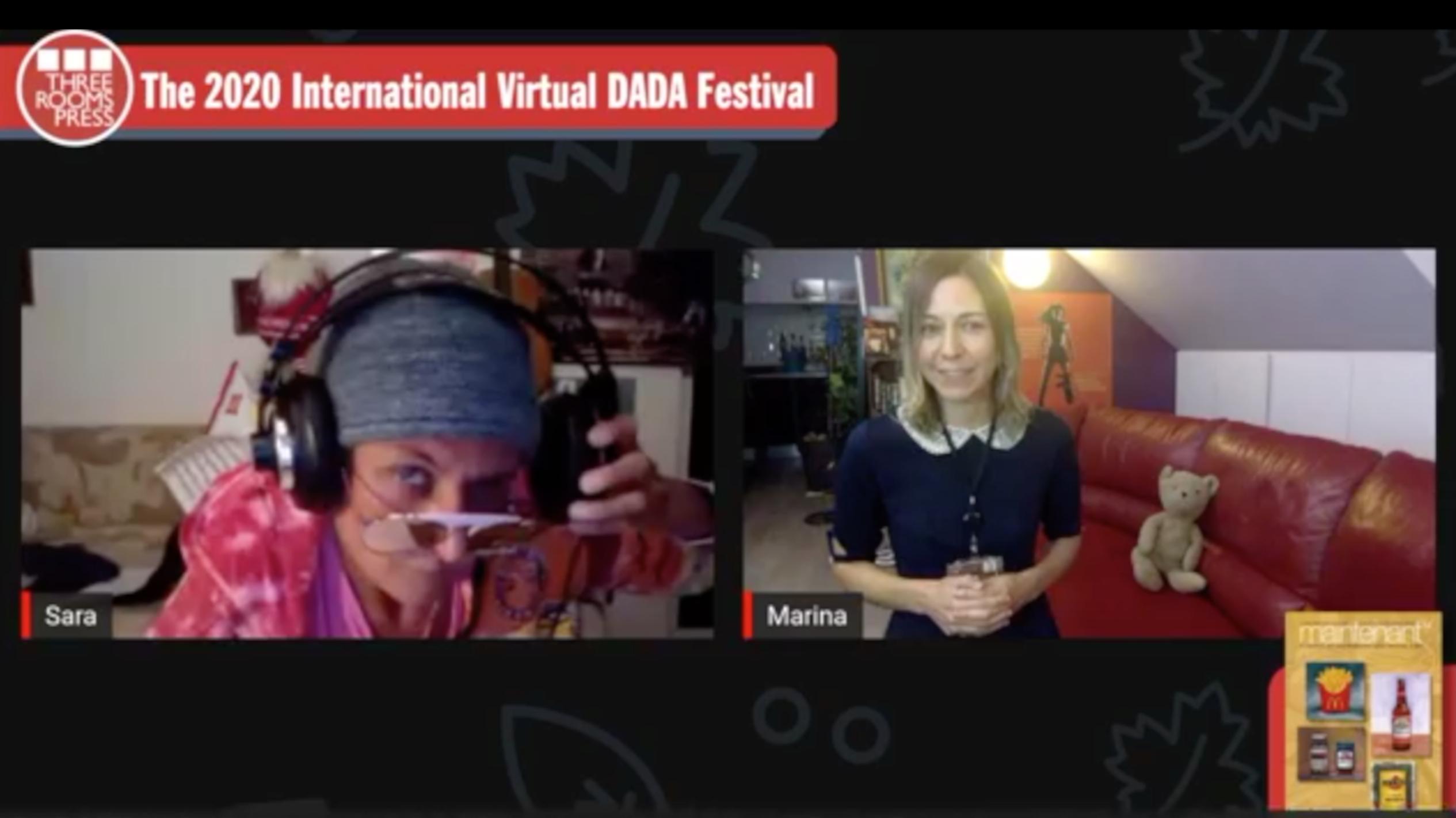 Sara Maino and Marina Kazakova perform at the 2020 International Virtual DADA Festival